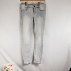 Maurices Light Faded Gray Skinny Jeans